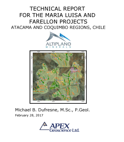 Technical Report Maria Luisa and Farrelon, Altiplano