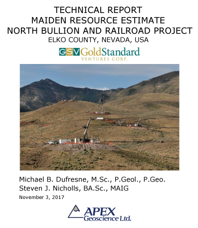 Maiden Resource North Bullion and Railroad Project GSV