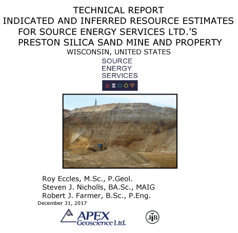 Resource Preston Silica Sand Mine, Source Energy