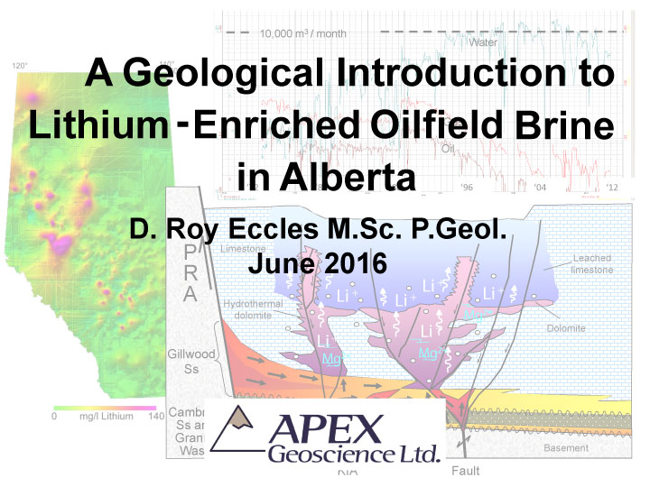 A Geological Introduction to Lithium-Enriched Oilfield Brine
